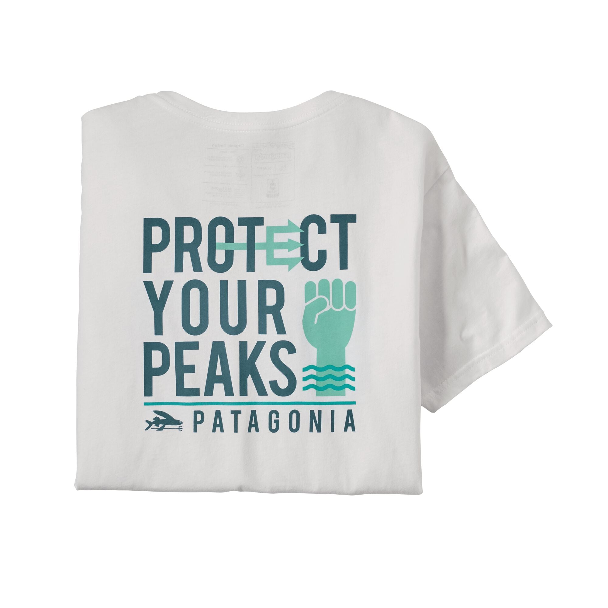 Polera Hombre Protect Your Peaks Organic T-Shirt Blanco