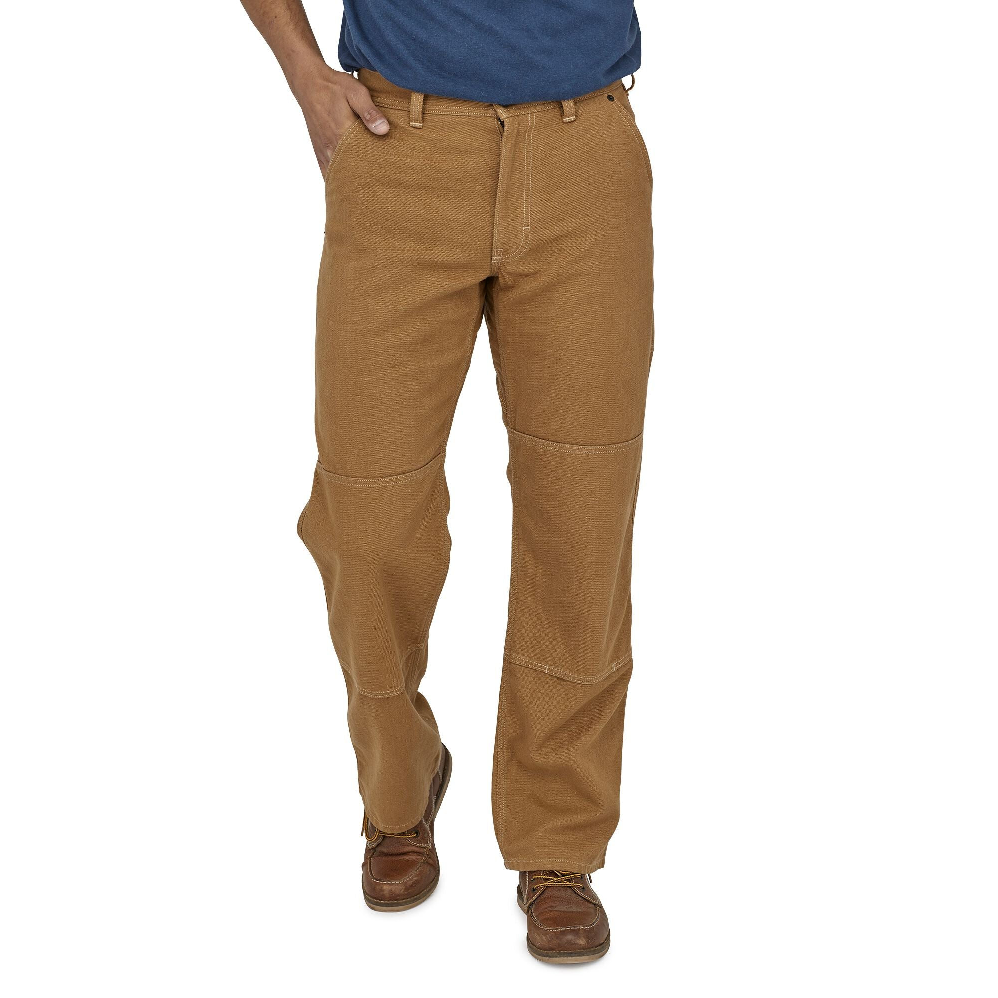 Pantalón Hombre Iron Forge Hemp® Canvas Double Knee - Regular Cafe Patagonia