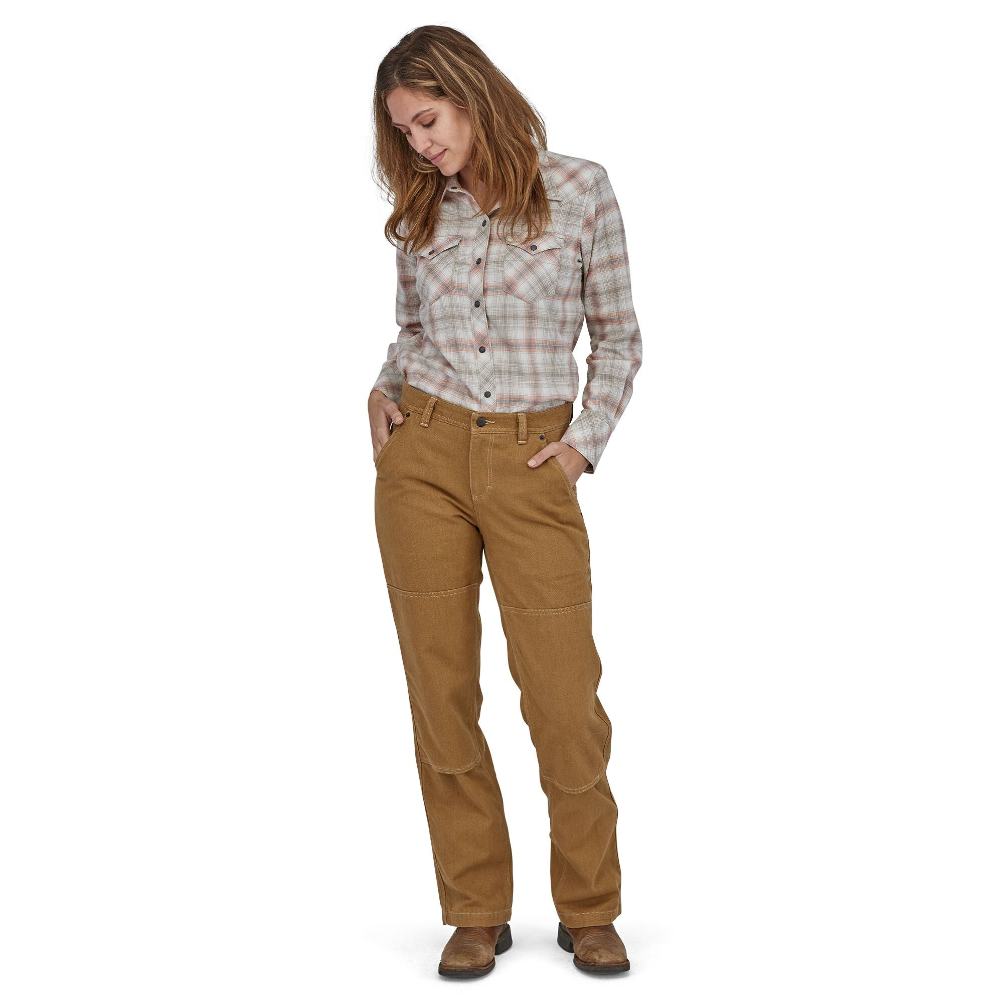 Pantalón Mujer Iron Forge Hemp® Canvas Double Knee - Regular Cafe Patagonia