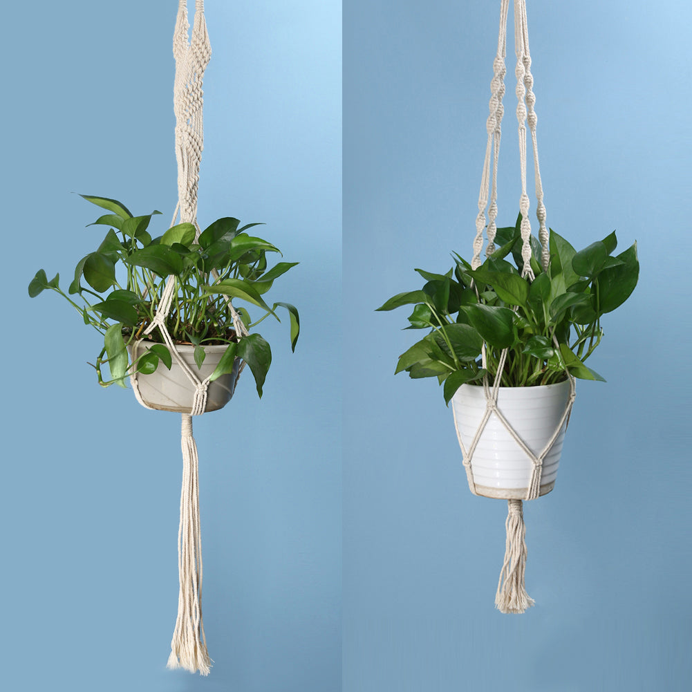 Vintage Macrame Hand made Wild Atlantic Garden Galway Ireland Vertical Hanging Garden Local Business Sustainable Design Beautiful Plants Plant Pot Ireland Indoor Garden