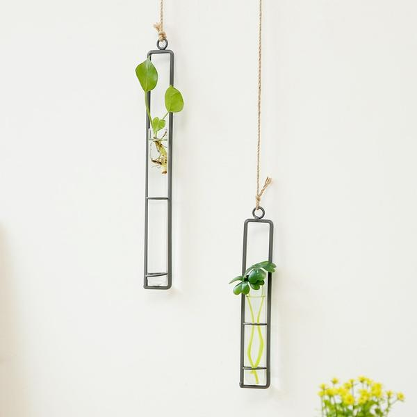 Chic interior design Wild Atlantic Garden hanging garden new Irish business minimalist design tiny houses tiny garden green living hydrpoponics vase propagation tube