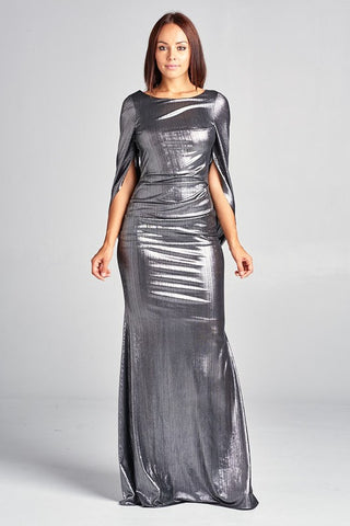 Cape Me Semi-Formal Dress