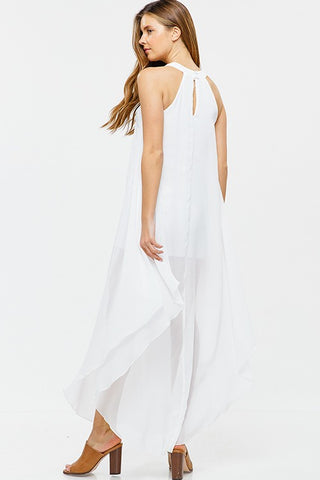 Beach Me Chiffon Maxi Dress