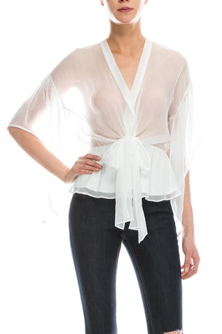 Ultra Sheer Silk Blouse