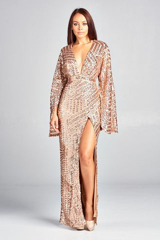 Sequins Me Semi-Formal Dress