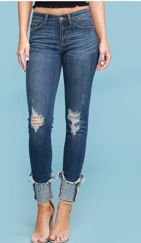 Cuff Me Plus Size Denim Jeans