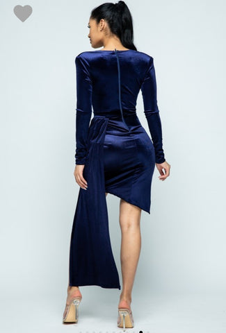 The Carinne Inspired Velvet Midi Dress