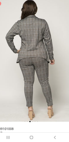 I Love It Plaid Plus Size Suit
