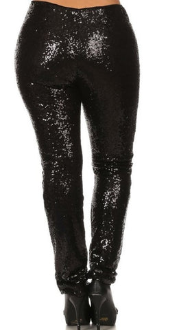 Matte Me plus size sequins pants