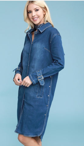 Multiply Me Denim Midi Dress
