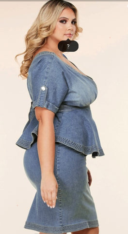NO TIME FOR ORDINARY PLUS SIZE DENIM DRESS