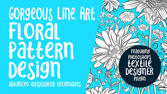 Gorgeous Line Art Floral Brushes -  full instructional video classes