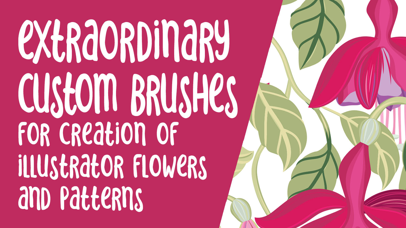 Extraordinary Custom Illustrator Brushes -  full instructional video classes