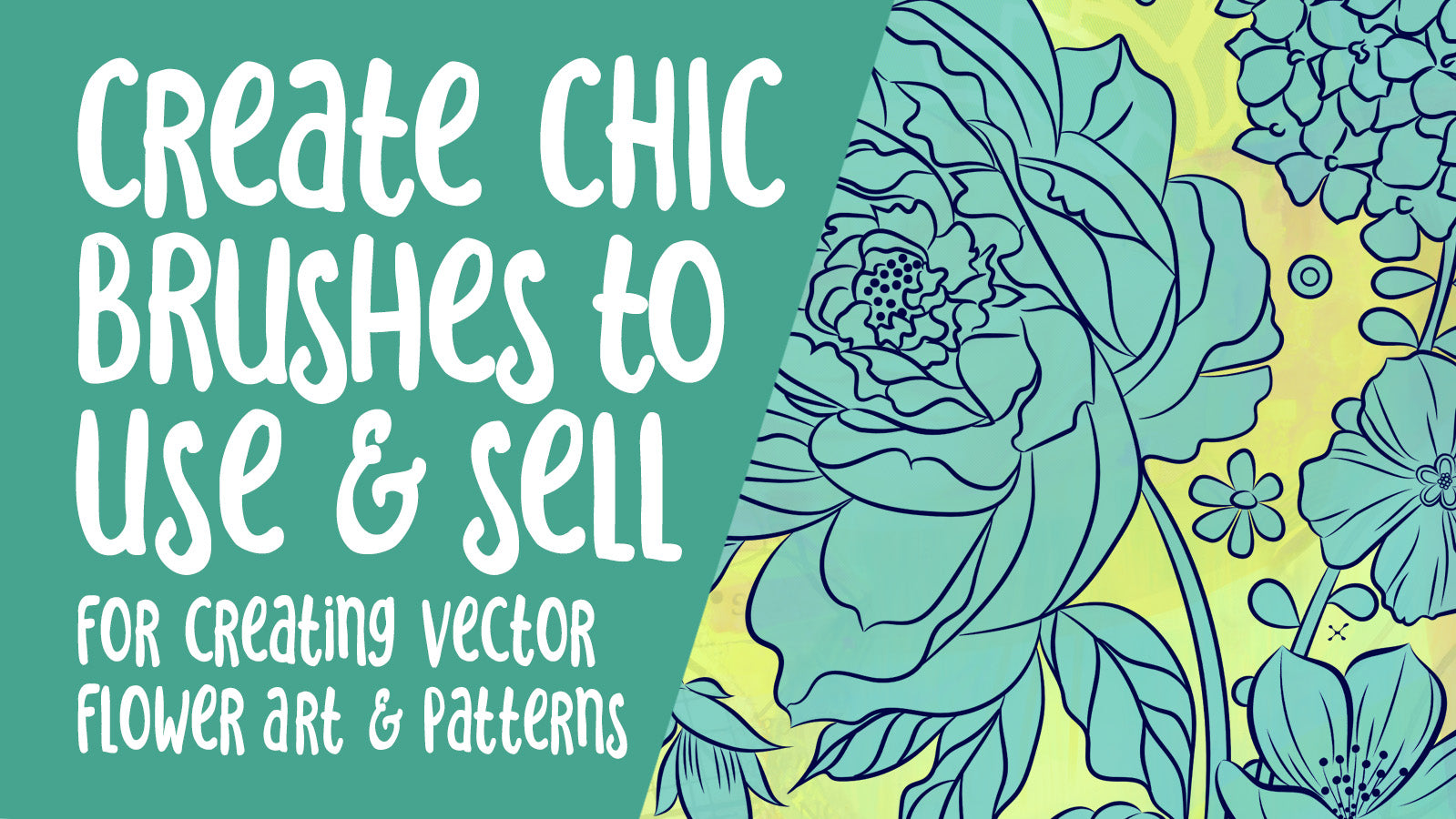 Chic Brushes to make and Sell using Illustrator -  full instructional video classes