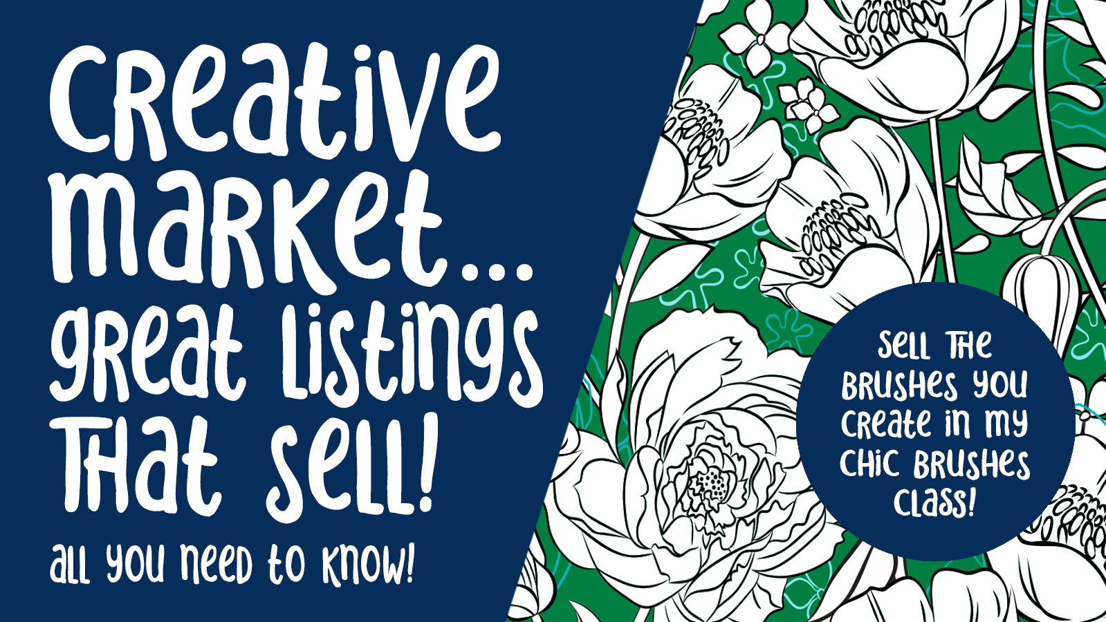 Creative market Great Listings that Sell -  full instructional video classes