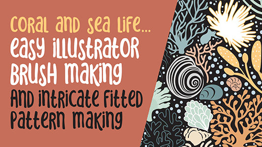 Easy Illustrator Brush Making for use in Pattern Design -  full instructional video classes
