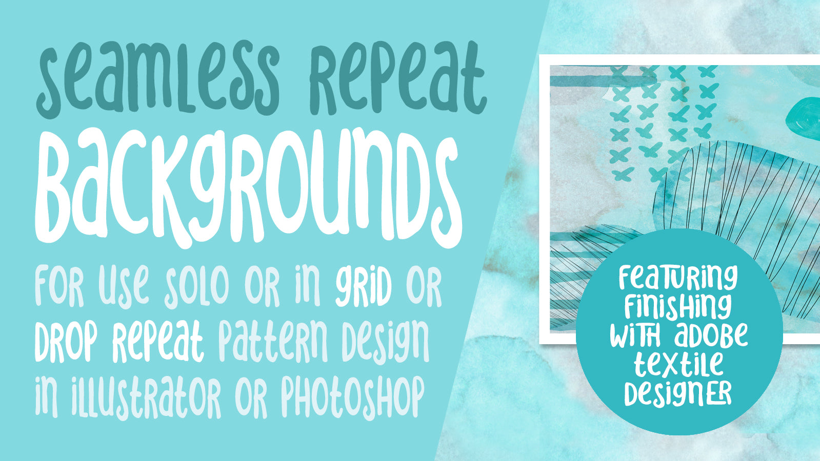 Seamless Photoshop Repeating Patterns -  full instructional video classes