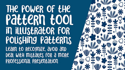 Use the Pattern Tool in Illustrator for editing patterns -  full instructional video classes