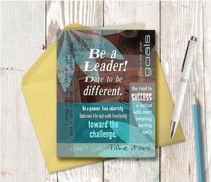 0003 Be A Leader Note Card