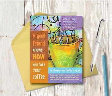 0004 Coffee Friend Note Card