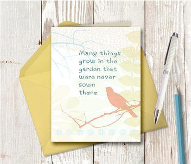0006 Many Things Grow Note Card - deloresartcanada