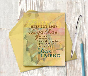 0009 Being Together Friend Note Card