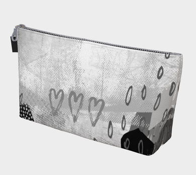 The Snuggle is Real Makeup Bag in Greyscale