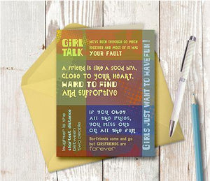 0010 Girl Talk Note Card