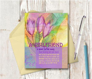 0011 Girlfriends Note Card