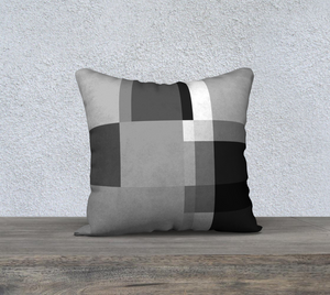 Square Off Greys Throw Pillow by Deloresart