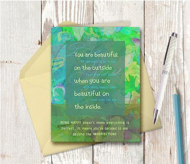 0023 Beautiful On The Inside Note Card