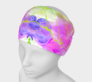 Posy Cluster Cool Colors Headband by Deloresart