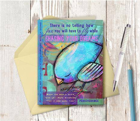 0030 Bluebird Chase Dreams Note Card