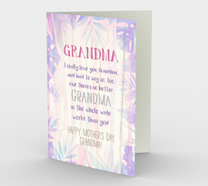 1147. World's Best Grandma  Card by DeloresArt