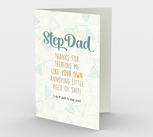 1251. Step Dad Annoying Little Shit  Card by DeloresArt