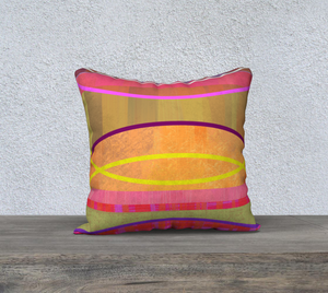 Coaxial Warm Colors Throw Pillow by Deloresart