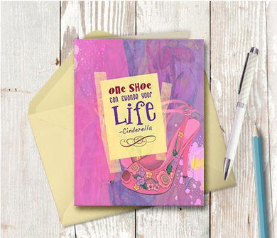 0042 Cinderella Shoe Note Card