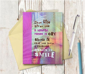 0050 Reasons To Smile Note Card