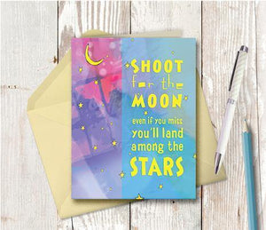 0051 Moon Stars Note Card