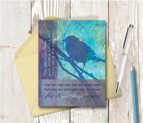 0056 Fear Less Note Card