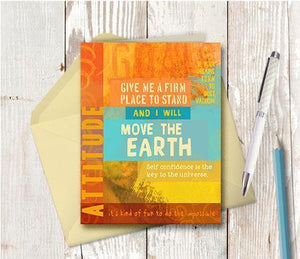 0059 Goals Move The Earth Note Card