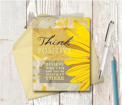 0061 Think Positive Note Card