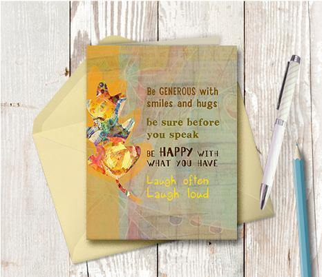 0062 Be Generous Note Card