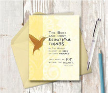 0072 The Best and Most Beautiful Things Card by DeloresArt - deloresartcanada