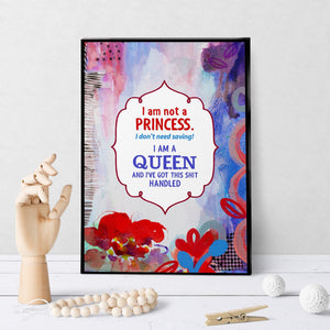 0754 I Am A Queen Art