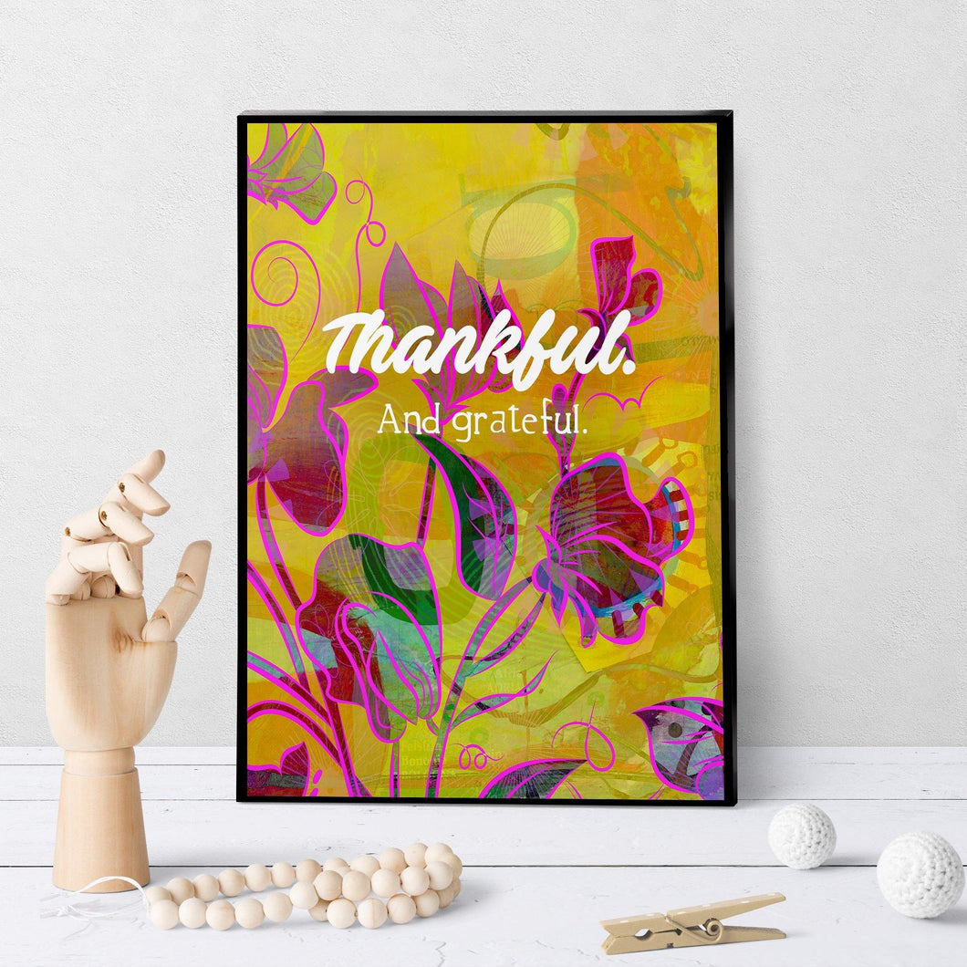 0940 Thankful And Grateful Art