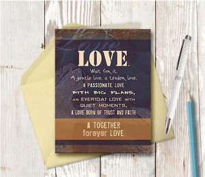 0097 Together Forever Love Note Card
