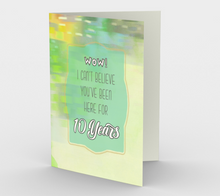 1320. Work Anniversary 10 Years  Card by DeloresArt