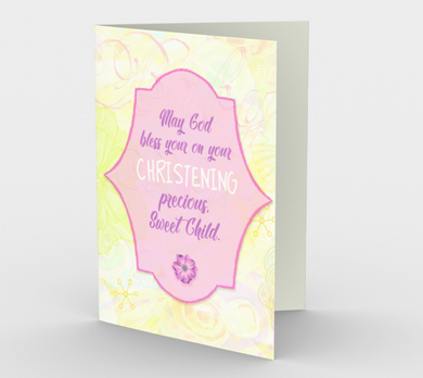 1289. Christening/Sweet Child  Card by DeloresArt