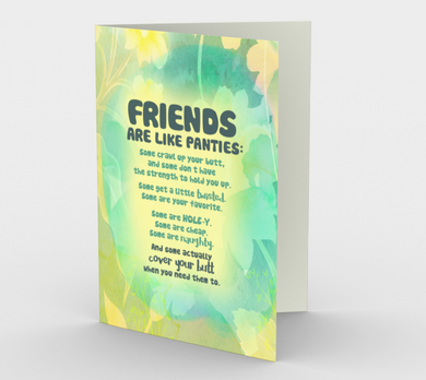 0907.Friends are Like Panties  Card by DeloresArt